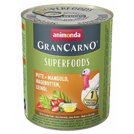 Animonda GRANCARNO Superfoods krůta,mangold,šípky,lněný olej 800 g pro psy