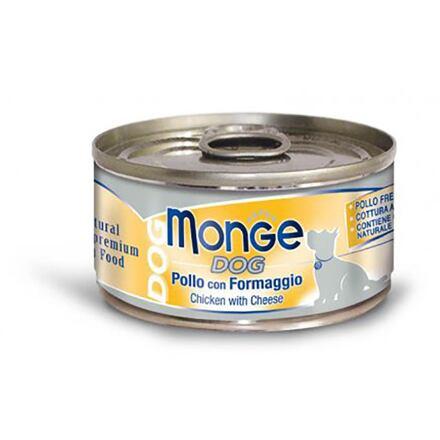 MONGE DOG NATURAL kuřecí masose sýrem pro psy 95 g