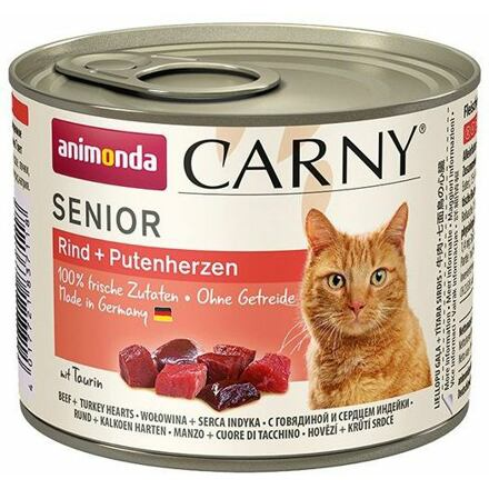 ANIMONDA konzerva CARNY Senior - hovězí, krůtí srdce 200g