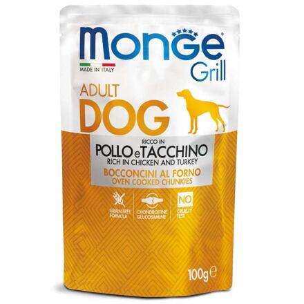 MONGE GRILL kapsička kuře a krůta pro psy 100 g