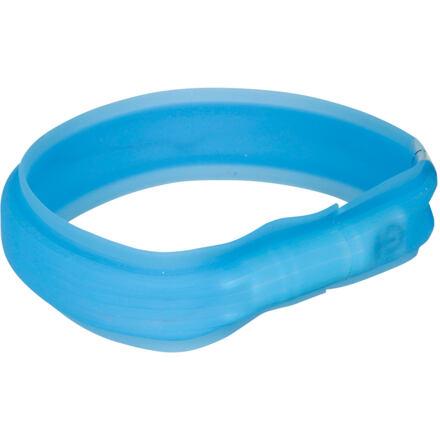 Trixie USB svítící obojek PLOCHÝ L-XL 70cm/30 mm modrý