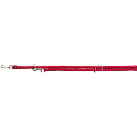 Trixie Vodítko CAVO kulaté prodlužovací S-M  2m/12 mm,  - červená