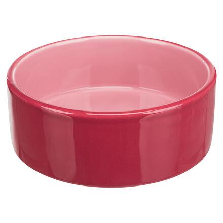 Keramická miska  0,8 l/ø 16 cm, růžová - DOPRODEJ