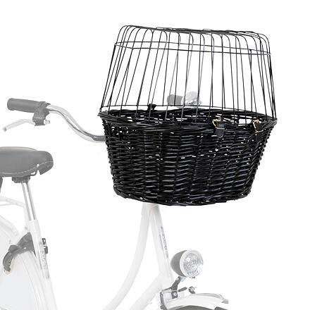 Trixie Přepravní koš na kolo s drátěnou kabinou - černý 50x41x35cm