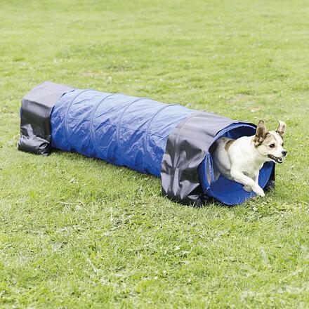 Trixie Agility tunel - malý pes, štěně, 40cm/2m - modrý