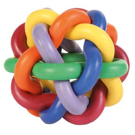 Míč tvrdá guma uzlíkový velký10cm