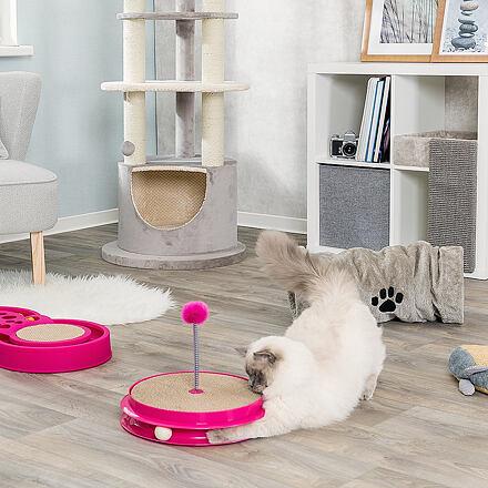 TRIXIE Hračka pro kočku kruh se škrab.kartonem, kuličkou a hračkou