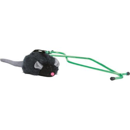 TRIXIE Squeaky myš na gumě, k zavěšení na dveřní rám 7 cm/135 cm