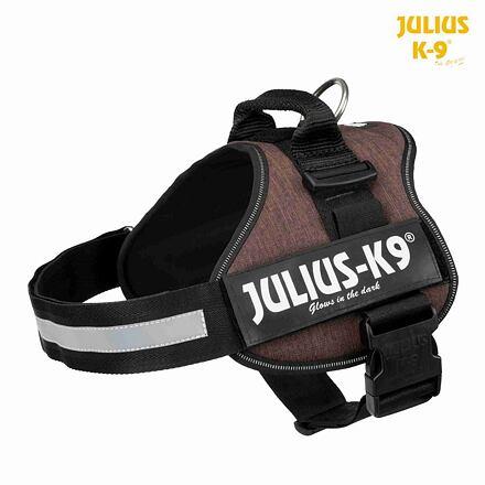 TRIXIE Julius-K9 silový postroj 1/L 66-85 cm/50 mm, kávová hnědá - DOPRODEJ