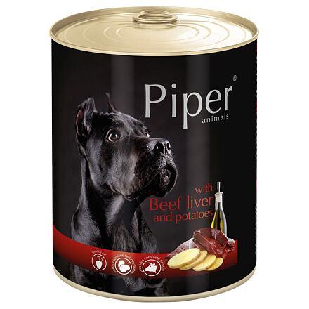 PIPER s hovězími játry a bramborami, konzerva pro psy 800g