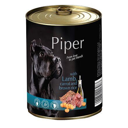 PIPER s jehněčím, mrkví a rýží, konzerva pro psy 400g
