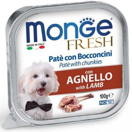 Monge MONGE FRESH - paštika a kousky s jehněčím 100 g pro psy