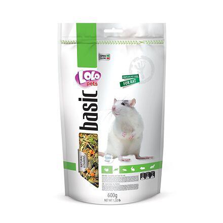 LOLO BASIC kompletní krmivo pro potkany 600 g Doypack