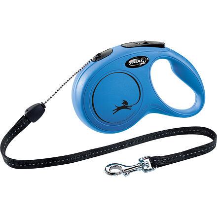 flexi Flexi New Classic S šňůra 8 m, max. 12kg,  - modrá