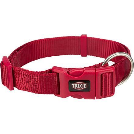 TRIXIE Obojek PREMIUM 40-65 cm/25 mm (L-XL),  - červený
