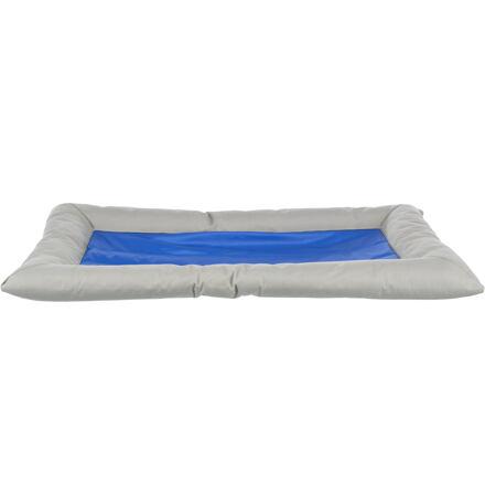 Chladící obdelníkový pelech Cool Dreamer s okrajem 75x50 cm šedo/modrý