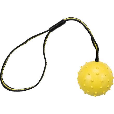 TRIXIE SPORTING míč tvrdý na nylon.pásku, přírodní guma 6 cm/35 cm