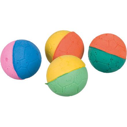 TRIXIE Míčky mechová guma různobarevné 4,3 cm bal. 4ks