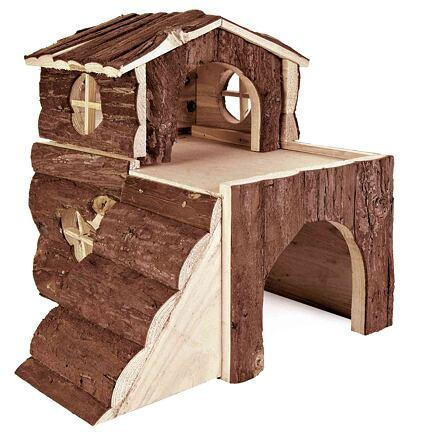 Dřevěný domek BJORK pro křečky, 2 místnosti 31 x 28 x 29 cm
