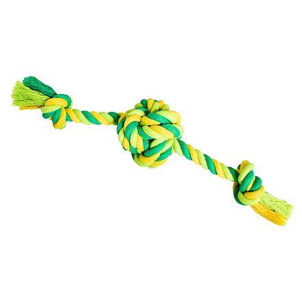 Míč se 2 rameny HipHop bavlněný 30 cm / 160 g limetková, zelená