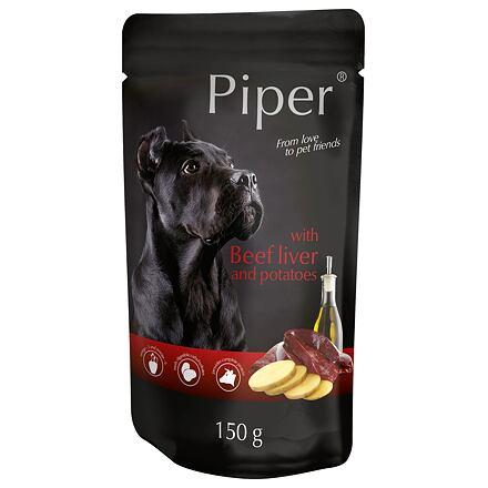 PIPER s hovězími játry a bramborami, kapsička pro psy 150 g
