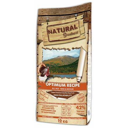 Natural Greatness Optimum Recipe Mini,Medium/krůta,kuře/12kg