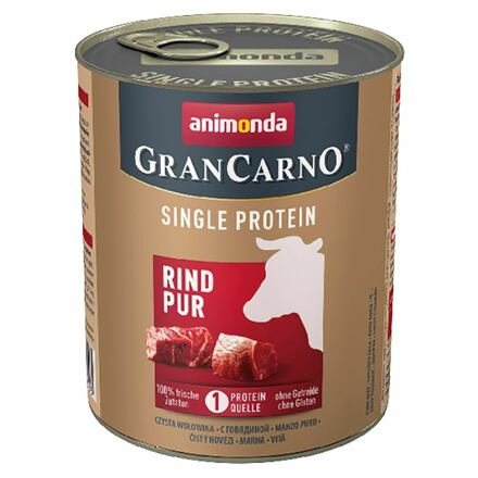 Animonda GRANCARNO Single Protein 800 g čisté hovězí, konzerva pro psy