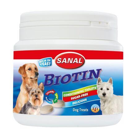 SANAL Biotin-kalciové tablety s biotinem v dóze 350 g - DOPRODEJ
