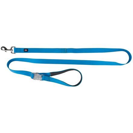 TRIXIE Neonové vodítko se svítící karabinou S-L 1,2-1,8m/25mm modré - DOPRODEJ