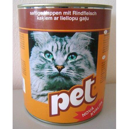 PET KATZE kostky s hovězím masem pro kočky 855 g