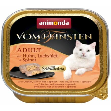 Animonda V.Feinsten CORE kuřecí, losos filet + špenát pro kočky 100g