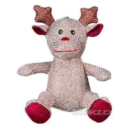 TRIXIE Heimtierbedarf GmbH Vánoční figurka SANTA CLAUS,SOB,SNĚHULÁK z vlněné látky