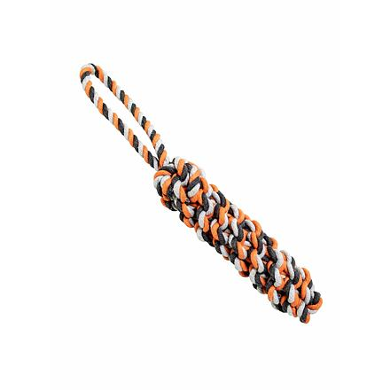 Bavlněný pešek HipHop 40 cm / 215 g šedá, tm.šedá, oranžová