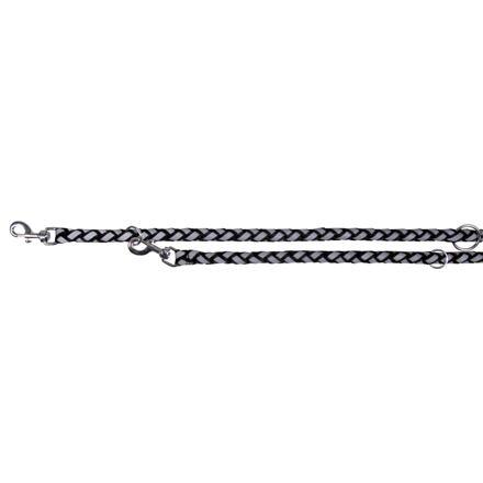 Trixie Reflexní prodlužovací vodítkoS-M 2m/12 mm,  - černá