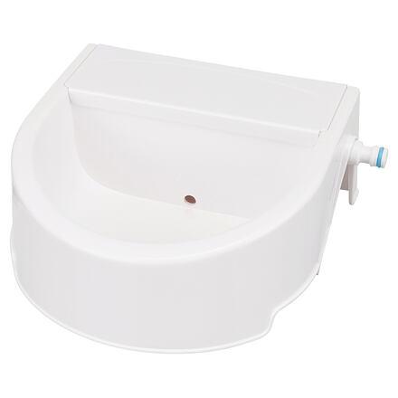 Automatické venkovní pítko na vodu, 1,5l/ 24 x 10 x 23 cm, bílá