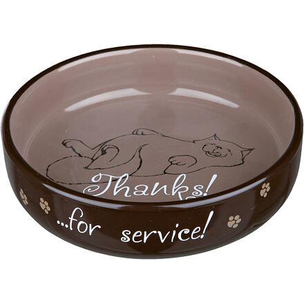 Trixie Keramická miska nízká pro kočky s krátkým čumákem 0,3 l / ø 15 cm různé barvy