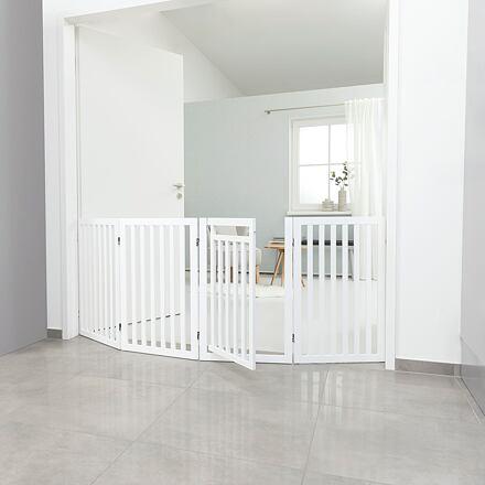 TRIXIE Ochranná bariéra s otvíracími dvířky 60-160 x 81 cm bílá