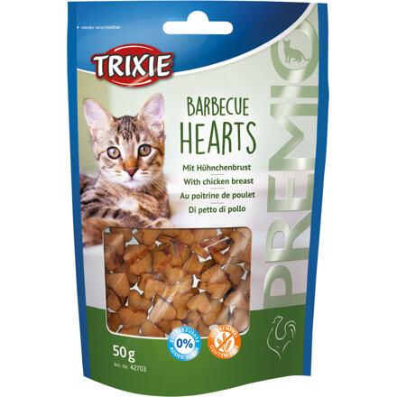 TRIXIE Premio BARBECUE HEARTS s kuřecím, grilovaná srdíčka 50 g