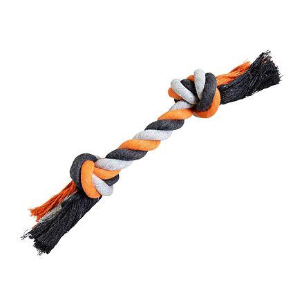 Uzel HipHop bavlněný 2  knoty 20 cm / 55 g šedá, tm.šedá, oranžová