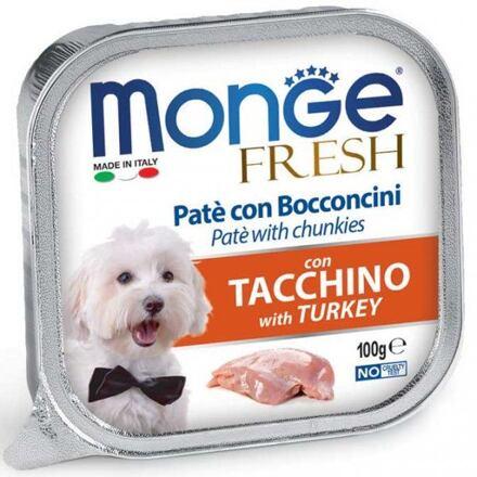 Monge MONGE FRESH - paštika a kousky s krůtou 100 g pro psy