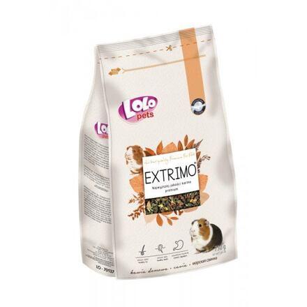LOLO EXTRIMO kompletní krmivo pro morčata v sáčku se zipem 750 g
