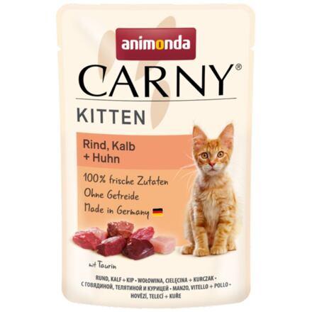 Carny Kitten 85 g hovězí, telecí+kuřecí, kapsička pro koťata