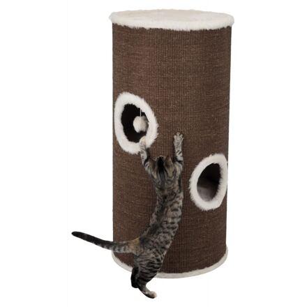 Trixie Škrábadlo VITUS Cat Tower, 115 cm, hnědo/krémové - DOPRODEJ