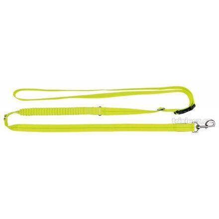 TRIXIE Svítící jogging vodítko USB S-XL 1,85-2,55m/25mm neon žlutá - DOPRODEJ