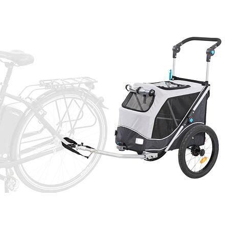 Trixie Vozík za kolo, s funkcí rychlého skládání S 58 x 93 x 74/114 cm šedý