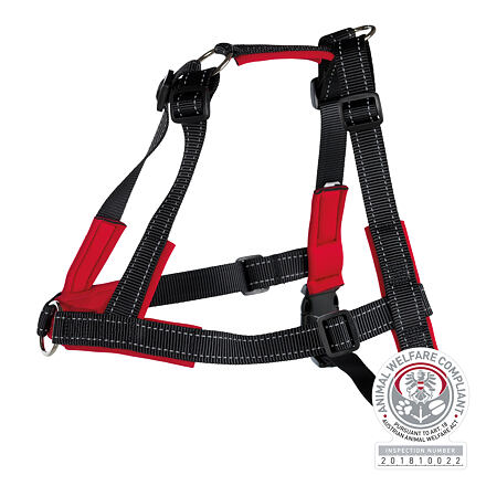 Lead´n´Walk Soft tréninkový postroj, L-XL: 65-105 cm/ 25 mm, černý