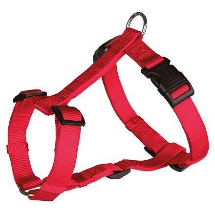 Trixie Nylonový postroj CLASSIC 40-65cm/15mm (S-M),  - červená
