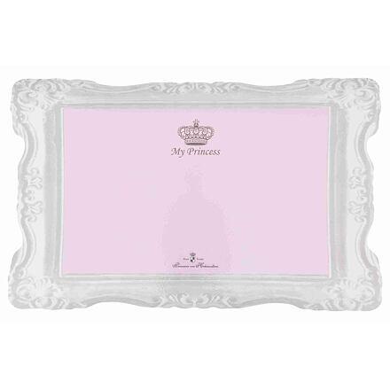 Trixie Prostírání MY PRINCESS - gumová podložka 44 x 28 cm růžová - DOPRODEJ