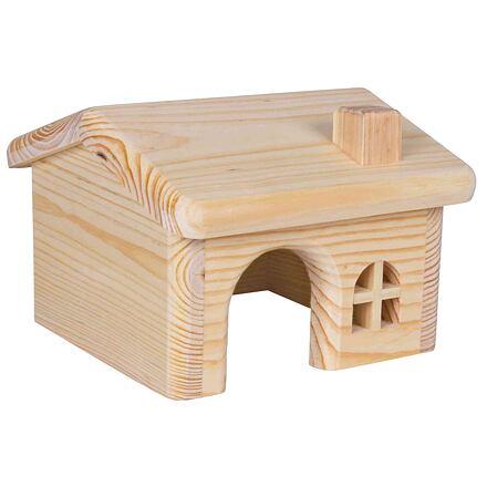 Trixie Dř. domek se sedlovou střechou pro myši a křečky 15x11x15cm