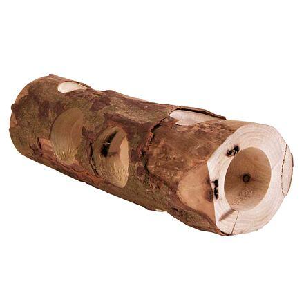 Dřevěný tunel přírodní dřevo pro hlodavce 7 x 30 cm